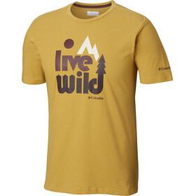 Columbia Terra Vale - T-shirt manches courtes Homme - jaune